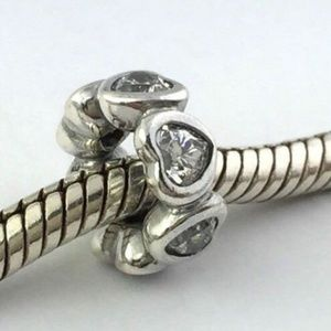 PANDORA Space In My Heart Clear CZ Spacer Charm